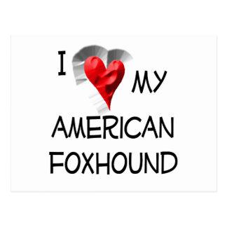 私は私のアメリカFoxhoundを愛します ポストカード
