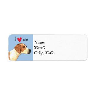 私は私のアメリカFoxhoundを愛します ラベル
