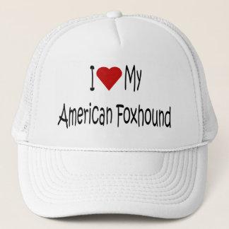私は私のアメリカFoxhound犬の恋人のギフトを愛します キャップ