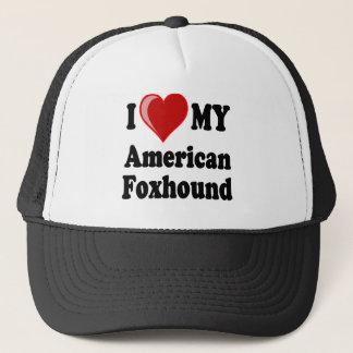 私は私のアメリカFoxhound犬を愛します キャップ