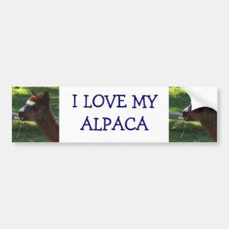 私は私のアルパカを愛します バンパーステッカー