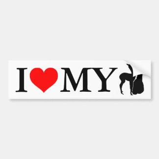 私は私のアルパカ-バンパーステッカー--を愛します バンパーステッカー