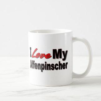 私は私のアーフェンピンシャー犬の商品を愛します コーヒーマグカップ