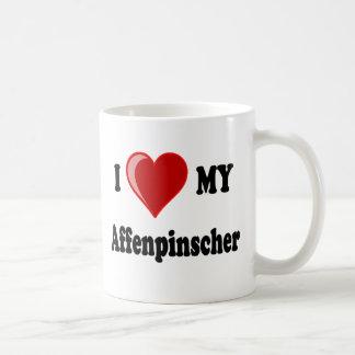 私は私のアーフェンピンシャー犬を愛します コーヒーマグカップ