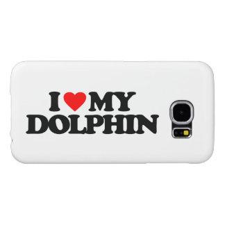 私は私のイルカを愛します SAMSUNG GALAXY S6 ケース