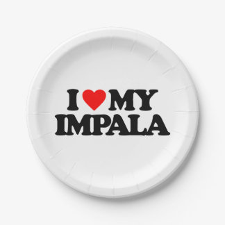 私は私のインパラを愛します ペーパープレート