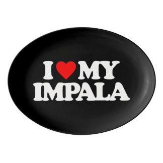 私は私のインパラを愛します 磁器大皿