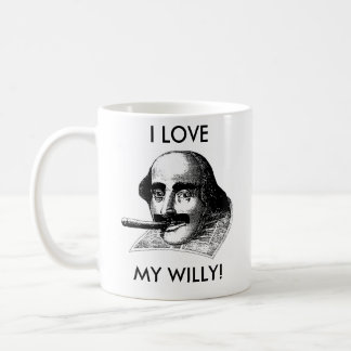 私は私のウイリーを愛します! コーヒーマグカップ