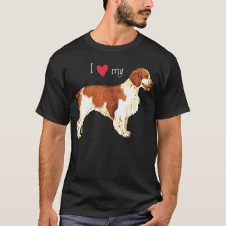 私は私のウェールズのスプリンガースパニエルを愛します Tシャツ