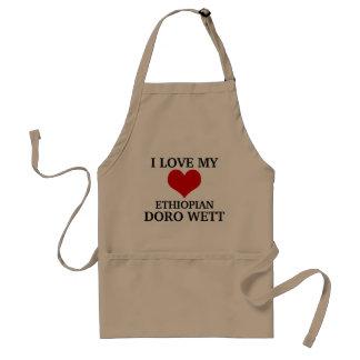 私は私のエチオピアのDoro Wettを愛します スタンダードエプロン