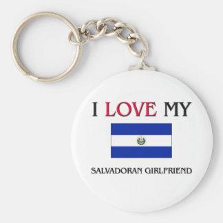 私は私のエルサルバドルのガールフレンドを愛します キーホルダー