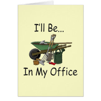私は私のオフィスの庭にいます カード