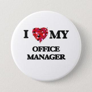 私は私のオフィスマネージャーを愛します 7.6CM 丸型バッジ
