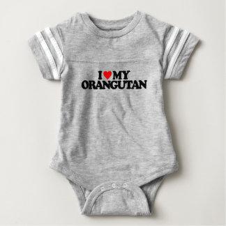 私は私のオランウータンを愛します ベビーボディスーツ