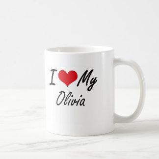 私は私のオリビアを愛します コーヒーマグカップ