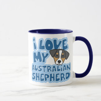 私は私のオーストラリアの羊飼いのマグを愛します マグカップ
