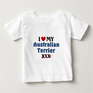 私は私のオーストラリアンテリアのキスを愛します ベビーTシャツ