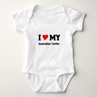 私は私のオーストラリアンテリアを愛します ベビーボディスーツ