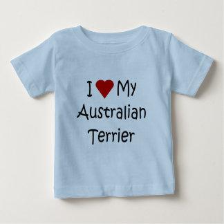 私は私のオーストラリアンテリア犬の恋人のワイシャツを愛します ベビーTシャツ