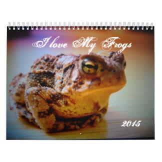 私は私のカエルのカスタムによって印刷されるカレンダーを愛します カレンダー
