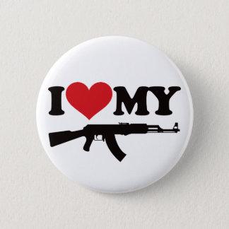 私は私のカラシニコフ自動小銃を愛します 5.7CM 丸型バッジ