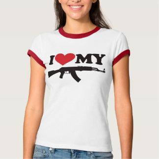 私は私のカラシニコフ自動小銃を愛します Tシャツ