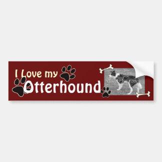 私は私のカワウソ猟犬のバンパーステッカーを愛します バンパーステッカー