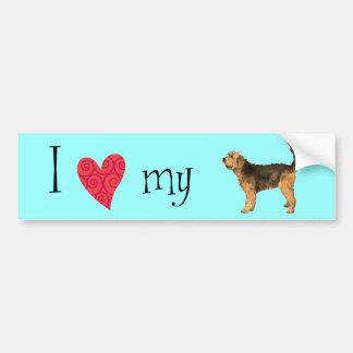 私は私のカワウソ猟犬を愛します バンパーステッカー