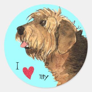 私は私のカワウソ猟犬を愛します ラウンドシール