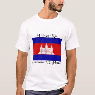 私は私のカンボジアのボーイフレンドを愛します Tシャツ