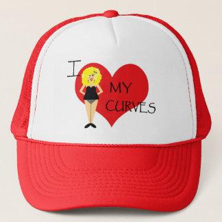 私は私のカーブのやる気を起こさせるな帽子を愛します キャップ