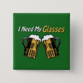 私は私のガラスビールユーモアボタンを必要とします 缶バッジ