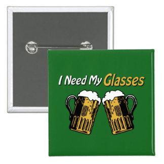 私は私のガラスビールユーモアボタンを必要とします 5.1CM 正方形バッジ