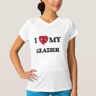 私は私のガラス工を愛します Tシャツ