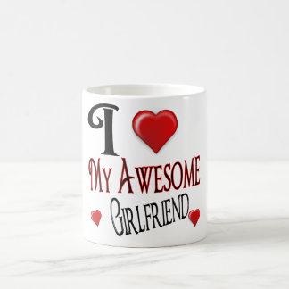 私は私のガールフレンドを愛します コーヒーマグカップ