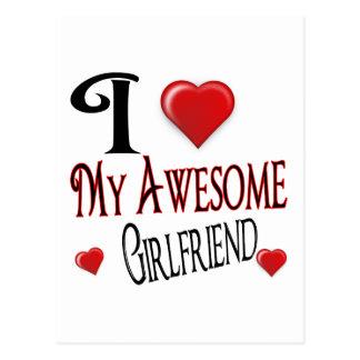 私は私のガールフレンドを愛します ポストカード