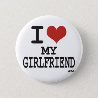 私は私のガールフレンドを愛します 缶バッジ