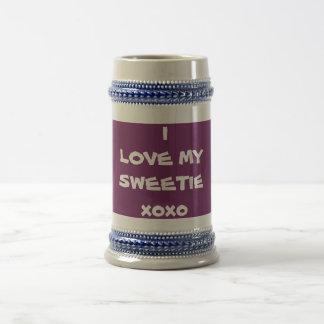 私は私のキャンディXXを-ステイン-創作者RjFxx.愛します ビールジョッキ