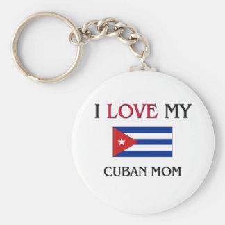 私は私のキューバのお母さんを愛します キーホルダー