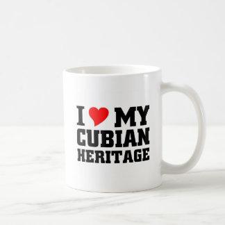 私は私のキューバの伝統を愛します コーヒーマグカップ
