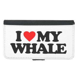 私は私のクジラを愛します GALAXY S5 ウォレットケース