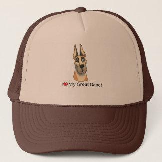 私は私のグレートデーンを愛します; 収穫される子鹿ふた キャップ