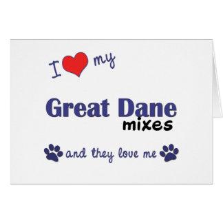 私は私のグレートデーンを混合します愛します(多数犬) カード