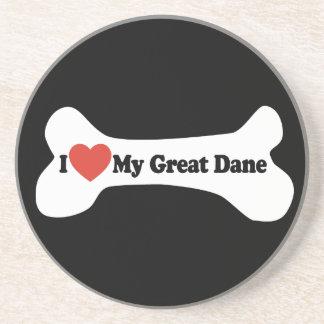 私は私のグレートデーン-犬用の骨--を愛します コースター