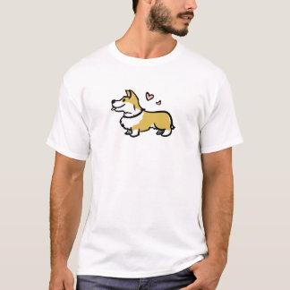 私は私のコーギーメンズワイシャツを愛します Tシャツ