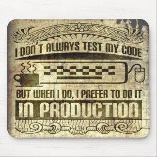 私は私のコードを常にテストしません マウスパッド