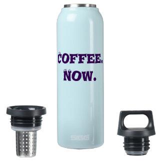 私は私のコーヒーが今ほしいと思います! 熱く、冷たい飲み物のボトル 断熱ウォーターボトル