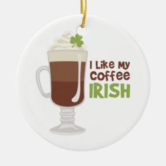 私は私のコーヒーをアイルランド語好みます セラミックオーナメント