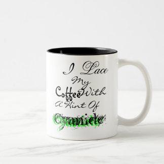私は私のコーヒーを…ひもで締めます ツートーンマグカップ