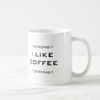 私は私のコーヒー強いギークHTMLのマグを好みます コーヒーマグカップ
